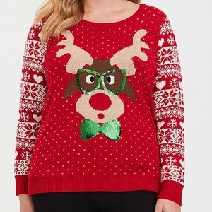 RED OH DEER PULLOVER